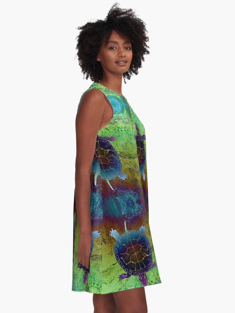 Alternate view of Dream Turtle A-Line Dress