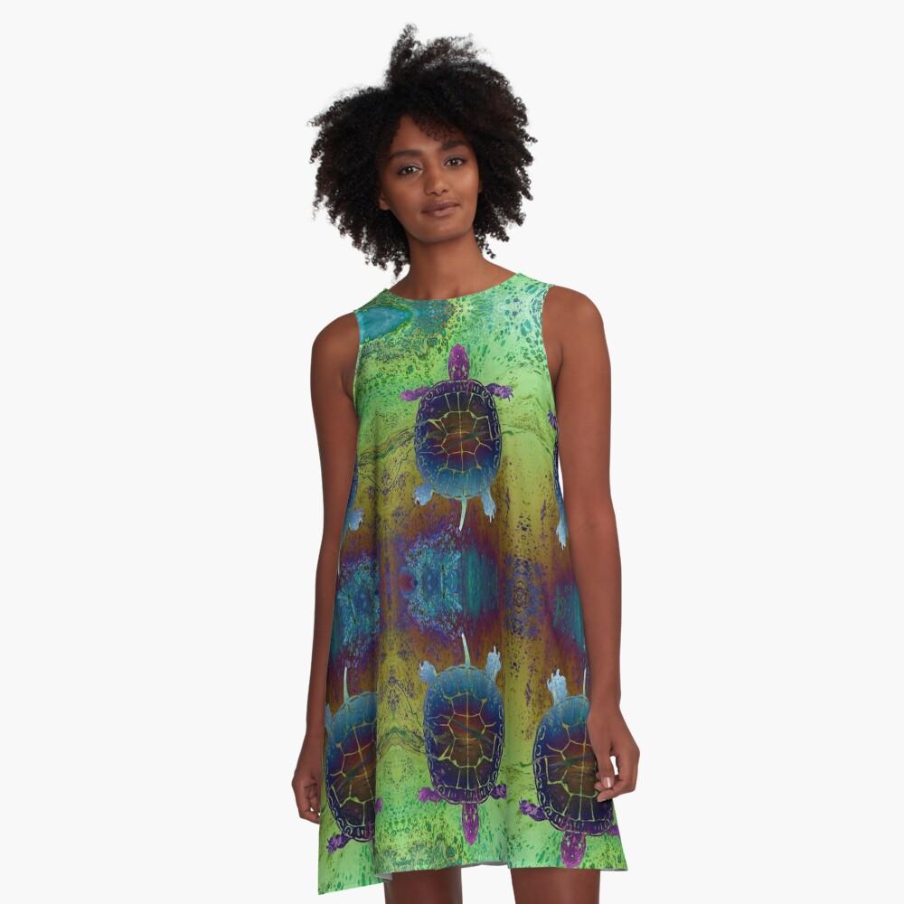 Dream Turtle A-Line Dress