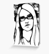Scribbler Self Portrait Greeting Card