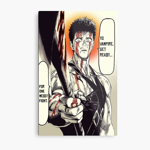 Zombieman Manga Panel - One Punch Man Metal Print