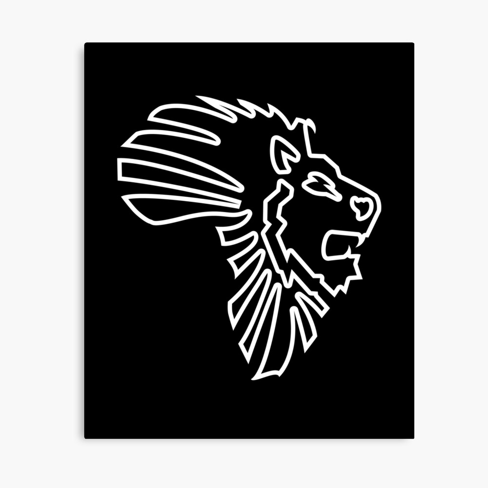 Lion Of Africa Map Solid Outline Art Board Print By El Em Cee Redbubble Choose from 110000+ roaring lion outline graphic resources and download in the form of png, eps, ai or psd. redbubble