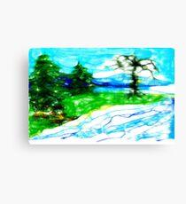 Scribblers Landscape Canvas Print