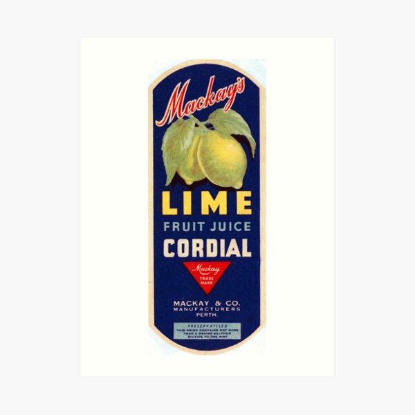 Mackay's Lime Fruit Juice Cordial State Library of Western Australia Art Print
