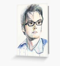 Tenth Doctor (David Tennant) Greeting Card