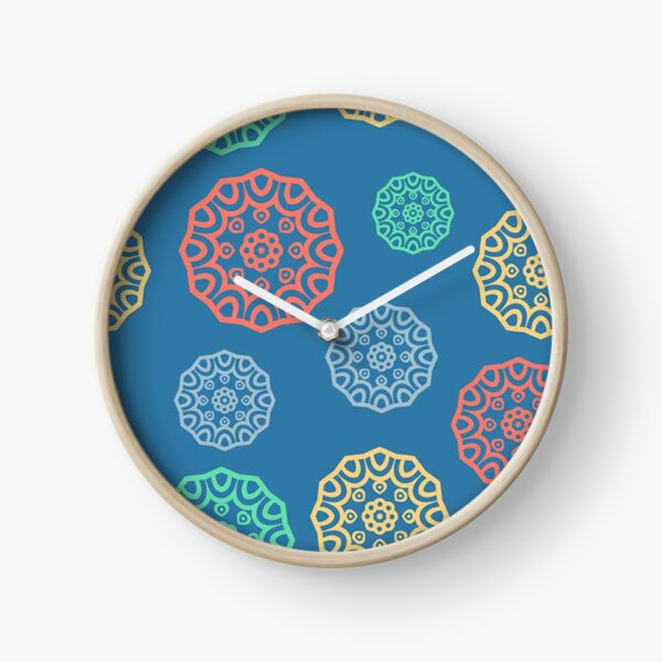 Colourful Block Stamps Clock