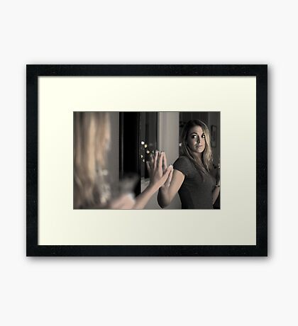 Mirror in a mirror Framed Print
