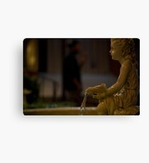 angel in the dark Canvas Print