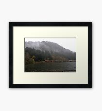 Train in the wind Framed Print