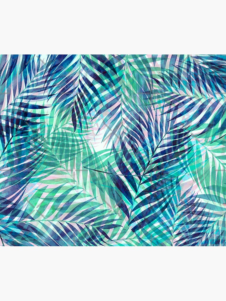 Palm Leaves - Indigo Green by SilverPegasus