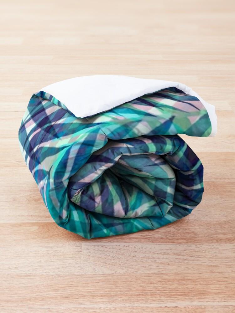 Alternate view of Palm Leaves - Indigo Green Comforter