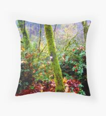 colors of the forest Throw Pillow