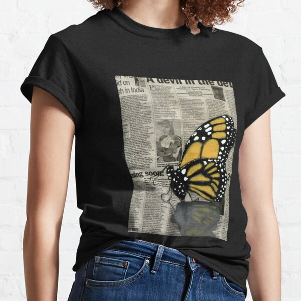 Butterfly on my Newspaper Classic T-Shirt