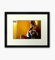 office seductress Framed Print