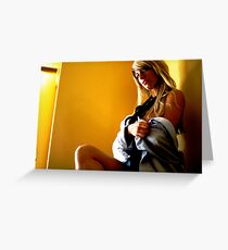 office seductress Greeting Card