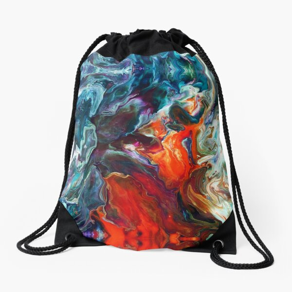 Fire And Water Drawstring Bag