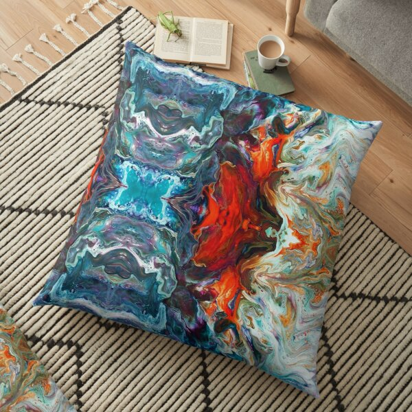 Fire And Water Floor Pillow