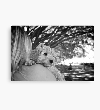 A shoulder to lean on Canvas Print