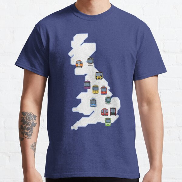 Metro and Light Rail of Britain (Geographic) Classic T-Shirt