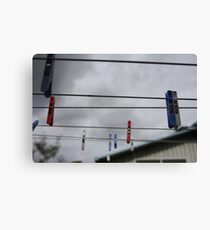 the suburban sky Canvas Print