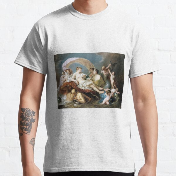 #Art, #illustration, #renaissance, #painting, people, Aphrodite, Venus, cherub, cupid, color image, men, males, women Classic T-Shirt