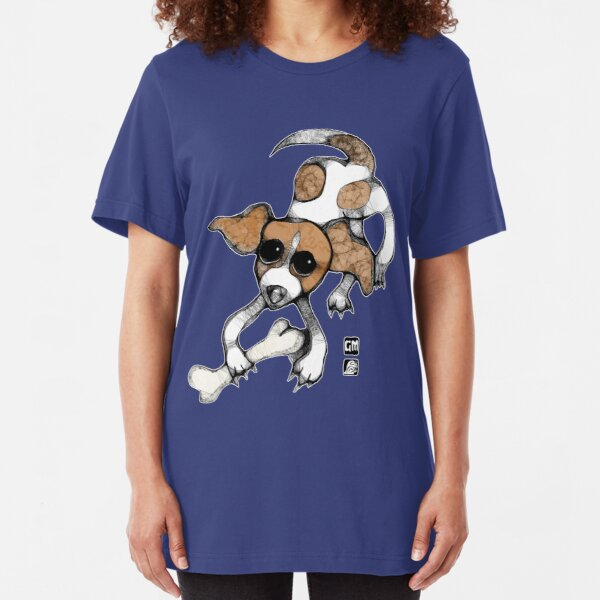puppy playing tee Slim Fit T-Shirt