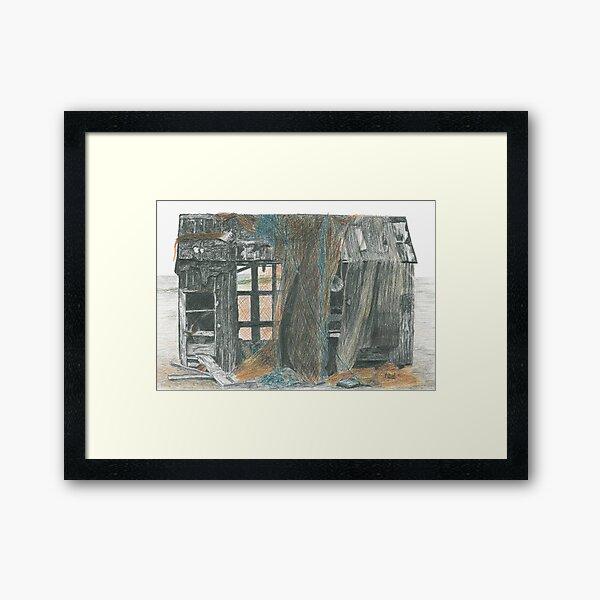 Dungeness Shack Framed Art Print
