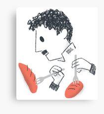 Baile de Chaplin con tenedores y pan Lienzo