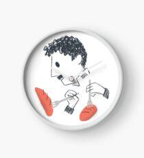 Baile de Chaplin con tenedores y pan Reloj
