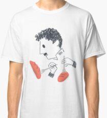 Baile de Chaplin con tenedores y pan Camiseta clásica