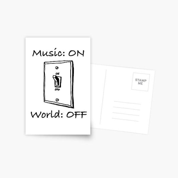 Musique On World Off Carte postale