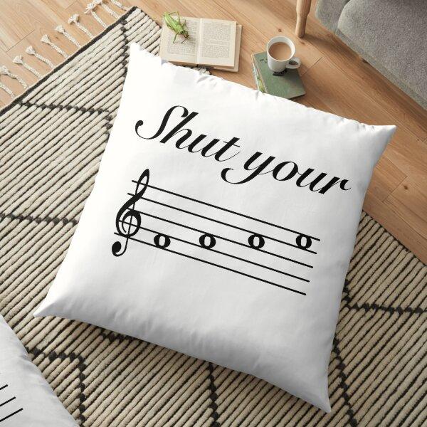 Funny Music Design Floor Pillow