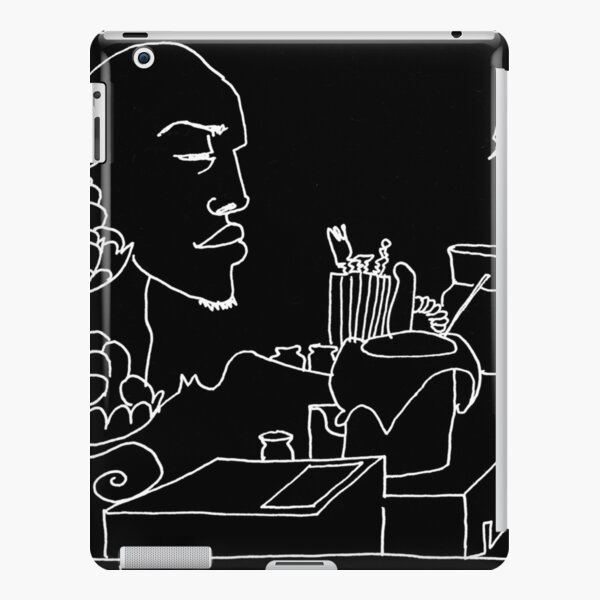 Cafe Series - Sultry Service (White Ink) iPad Snap Case