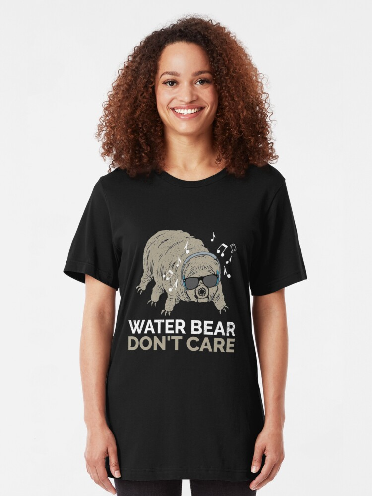 Alternative Ansicht von Funny Tardigrade Quote - Water Bear Don't Care Slim Fit T-Shirt