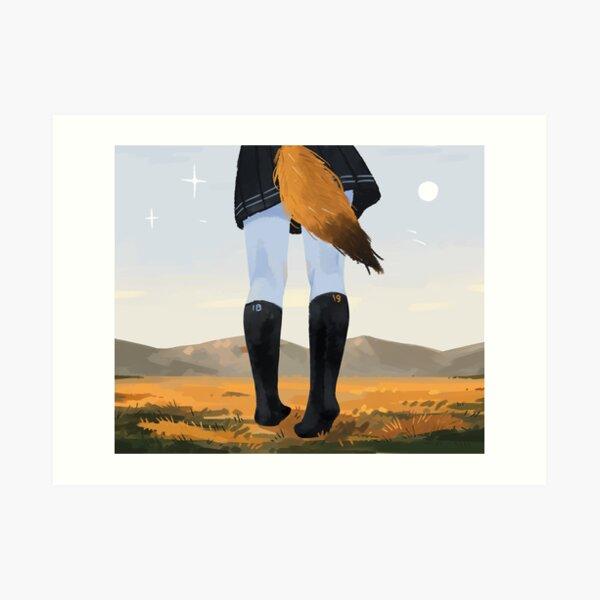 Fox in socks Art Print