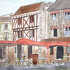 Watercolour.Bergerac France. by Irene  Burdell