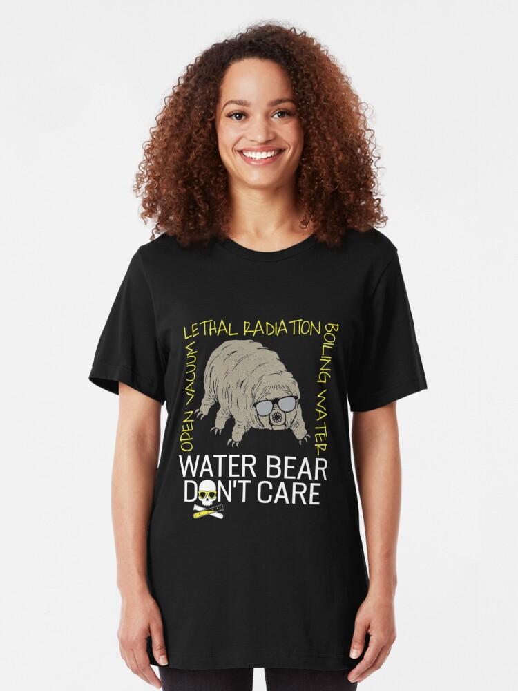 Alternative Ansicht von Water Bear Has No Fear - Micro-Animal Tardigrade Slim Fit T-Shirt