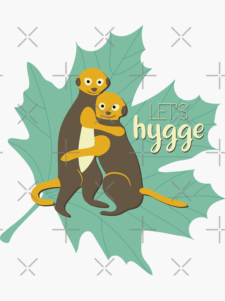 Let's hygge! Meerkat kid friends hugging by nobelbunt