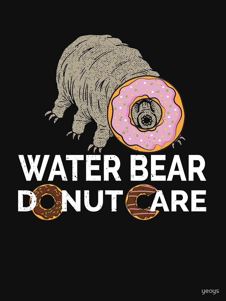 Water Bear Donut Care - Funny Micro-Animal Tardigrade by yeoys