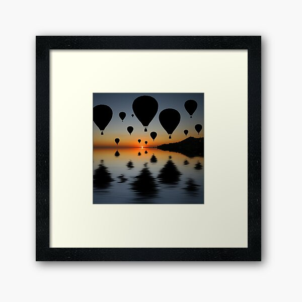 Sundowner Silhouette Framed Art Print