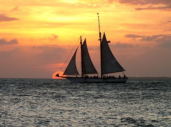 Sunset Sail in Key West by Ludwig Wagner