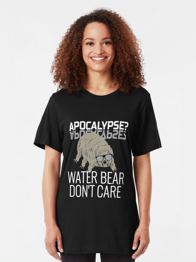 Alternative Ansicht von Funny Tardigrade Quote - Apocalypse Water Bear Don't Care Slim Fit T-Shirt