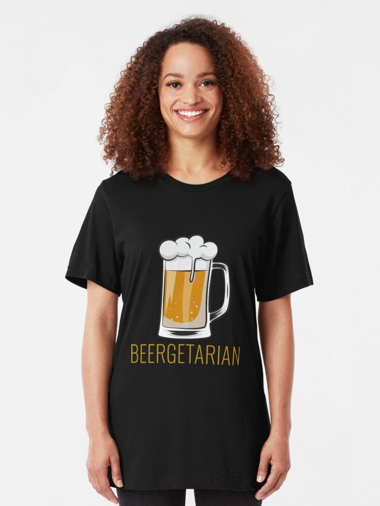 Alternative Ansicht von Funny Beer Pun - Beergetarian Slim Fit T-Shirt