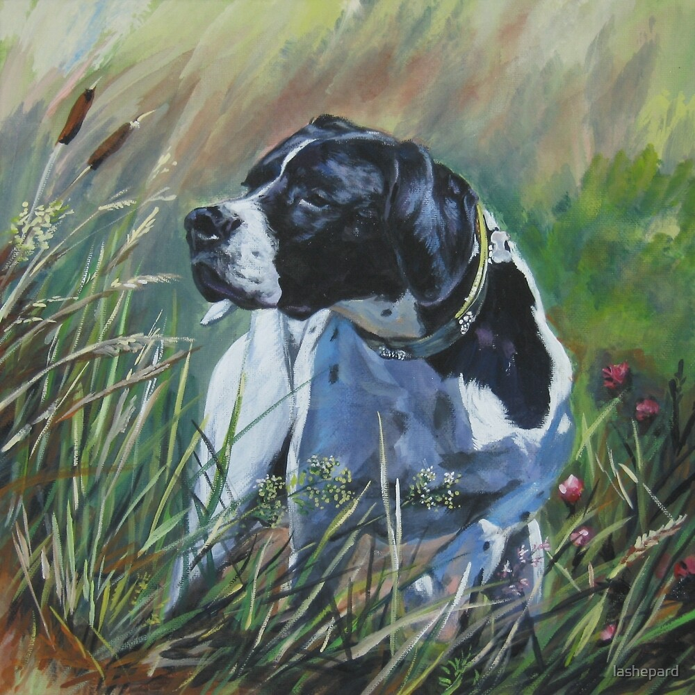 Pointer Fine Art Painting by lashepard