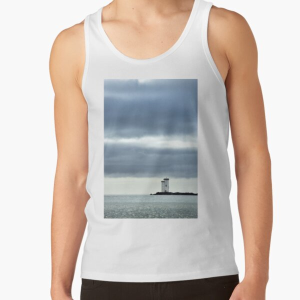 Carraig Fhada Lighthouse near Port Ellen - Islay, Scotland Tank Top