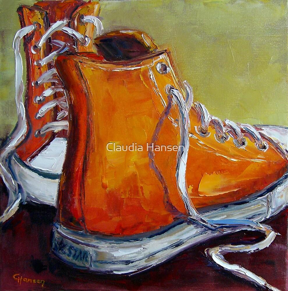 Orange Chucks by Claudia Hansen