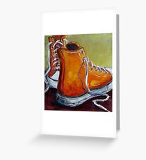 Orange Chucks Greeting Card