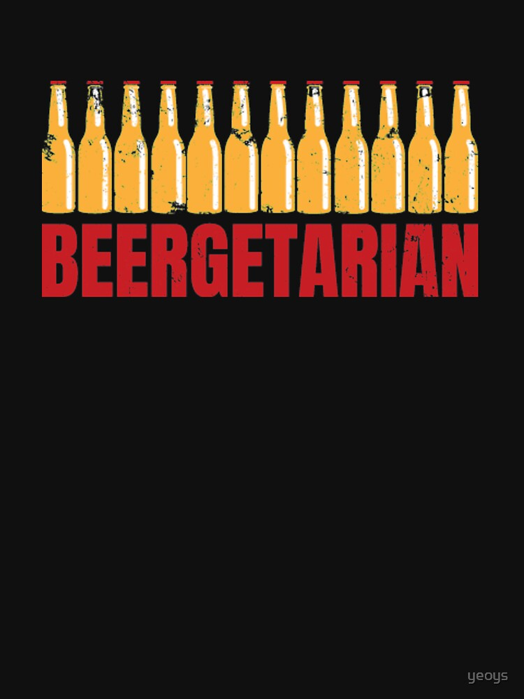 Funny Beer Pun - Beergetarian by yeoys