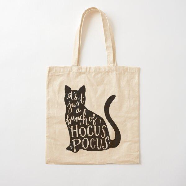 Hocus Pocus Cat Cotton Tote Bag
