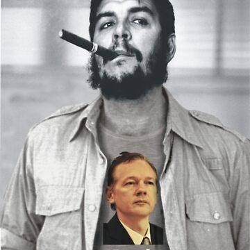 Che wears Assange! by watertigerleo