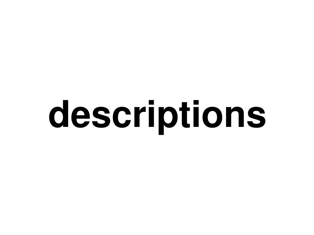 descriptions by ninov94